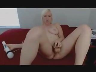 Omegle Teen Girls Pretty Blonde Play With Her Toy Collection