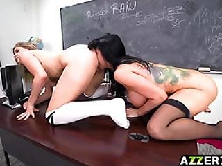 Naughty Teen Giselle Punished In A Lesbian Way
