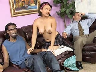 Callie Dee Has Body Shaking Orgasm From Big Black Cock