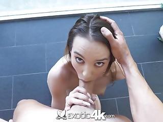 obciąganie, brunetka, sperma, pokryta spermą, egzotyka, twarz, hardcore, brudne