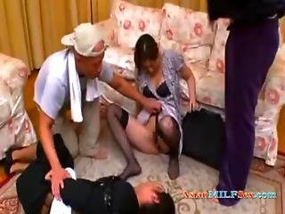Milf Rapped By 2 Guys In Front Of Her Husband Fingered Forced To Suck Cock In The Sitting Roo