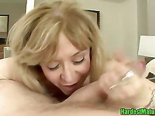 Blonde Mamma Spooned Hardcore