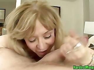 Blonde Mamma Spooned Hardcore
