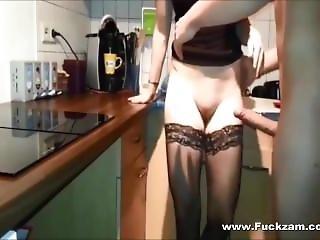 Leggy Teenage Babe Rammed & Takes Cum In Her Twat