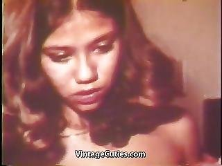 Asian Babe Gets Drunk And Fucks 1970s Vintage