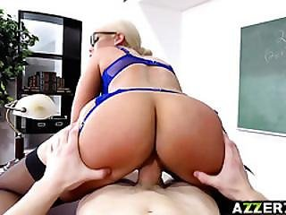 Sexy Prof Bridgette Bangs In The Classroom