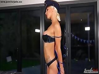 British Babe Jennifer Jade Naked Strip Tease Dance