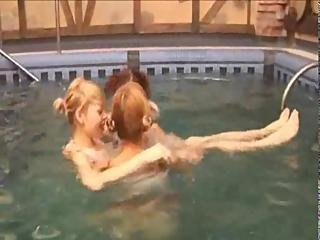 Sexy Lezzies In The Swimming Pool