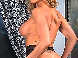 Mature Blonde Milf Caught Having Cybersex In Lingerie