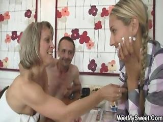 Oral Threesome With Her Bf S Parents