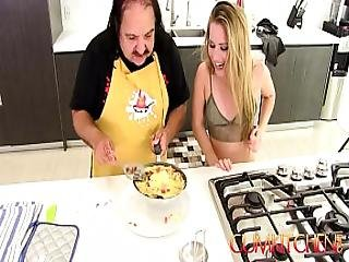 Cum Kitchen Ron Jeremy Fucks Young Blonde Teen Lilly Ford While Cooking