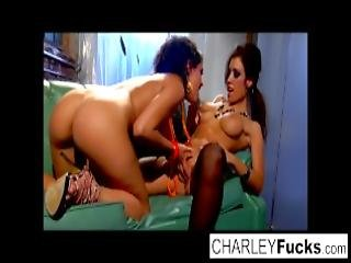 Charlie Has Some Slippery And Wet Fun With Sexy Brunette Capri