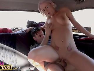 Female Fake Taxi Big Breasted Driver Rides Cock