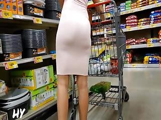 Sexy Mixed Girl In Tight Skirt