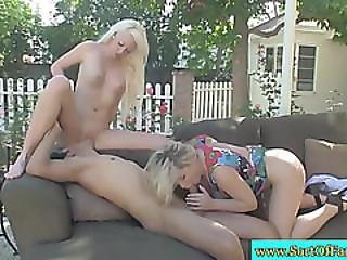 Milf Helping Stepdaughter Lip Servicing