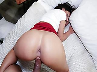 Naughty Stepbro Fingering Horny Sister Amara Romanis Pussy