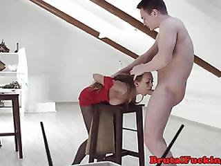 Petite 19yo Screwed In Roughsex Action