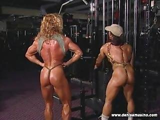 Denise Masino And Gayle Moher Gym Heat Scene03