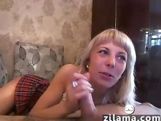(zilama.com) Blonde School Girl Homemade Webshow Anal Oral Part2