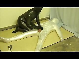 Plastic Wrap Bondage And Fucked