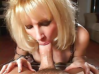 Blonde Milf In Stocking Fucks On Sofa Hq