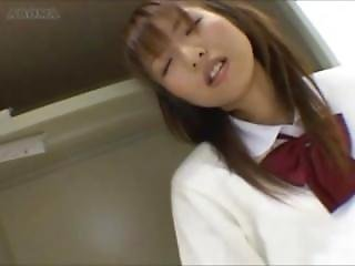 Japanese Schoolgirl Humping On Table Edge In Short Skirt Uniform