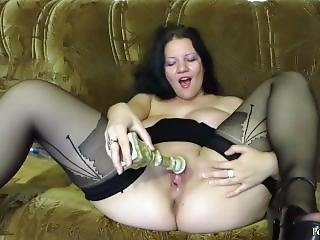 Mature Woman Fucked With A Candlestick