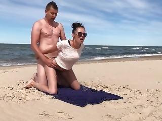 любитель, пляж, британский, пара, немецкий, мамаша, общественный, грубо, секс, татуировка, жена