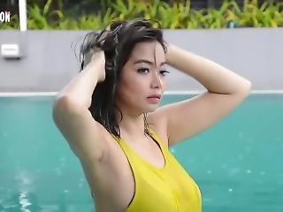 Myanmar Model Nwe Nwe Tun See Through Photoshoot
