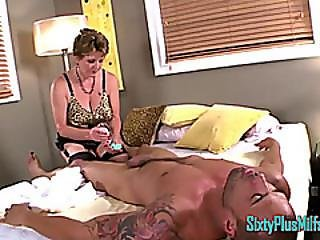 Granny Milf Massages Cock