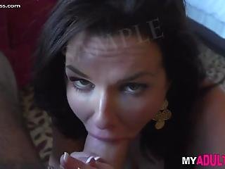 Brunette Milf Sandra In Black Stockings Gets Fucked Hard By Her Man