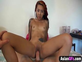 Exotic Asian Girlfriend Is Getting Hammered By Her Horny Lovers Loaded Piston