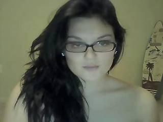 Horny Slut Brunette Masturbates On Webcam