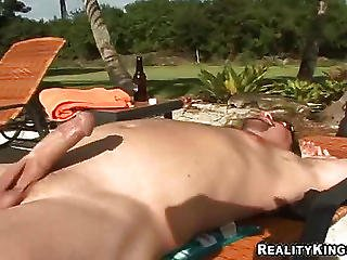 Suach A Good Round Tanned Milf's Butts Getting A Dick