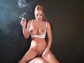 Abbie Smoking And Fucking Cowgirl
