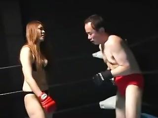 Japanese Babe Dominates Her Kick Box Coach
