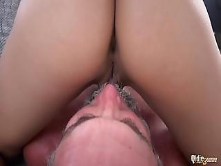 Beautiful Teens Girlfriend Threesome Suck Old Man Cock And Swallow Big Load