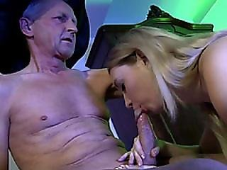 Hot Young Blonde Witch Enjoys A Steamy Sex Action With An Old Man