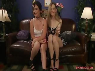 Three Beautifull Women Having Fun Together With A Bounge Of Toys