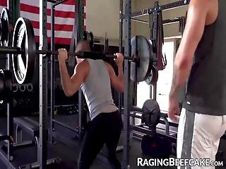 Good Looking Muscular Dudes Got Rattled Up From Their Workout So They Decided To Fuck While The Gym Is Empty