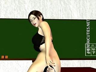 3d Hentai Bitch Eats Two Big Black Dicks
