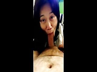 Indonesian Bar Hostess Sucks White Dick And Swallow Cum