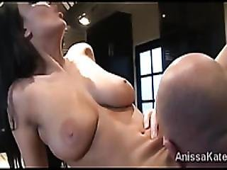 Gorgeous Anissa Kate Surprised By Scuteed Tongue And Dick