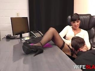 Dirty Slut Boss Mercedes Carrera Cheats With Young Cock