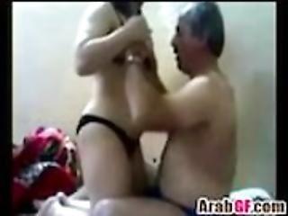 Arab couple foreplay and fellatio