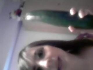 Spanish Girl And Her Cucumber Friend Part 1