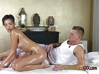 Wild Babe Penelope Cum Gets Pleasured By Masseur