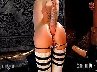 Extreme Anal Plug Stretch Fisting Slave