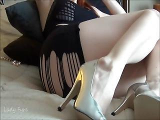 Femdom, Games, Humiliation, Lipstick, Masturbation, Pale, Pussy, Redhead, Teasing