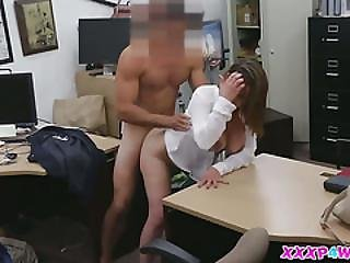 Horny Stewardess Having A Big Cock In Her Pussy